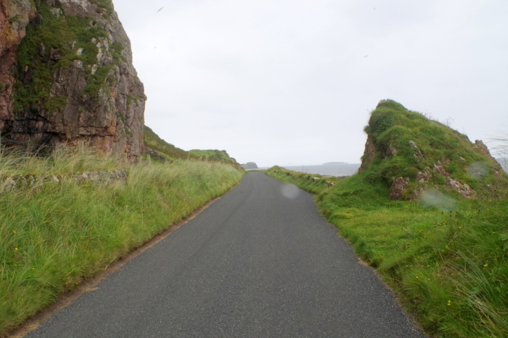 Road on the end of Kintyre, Scotland