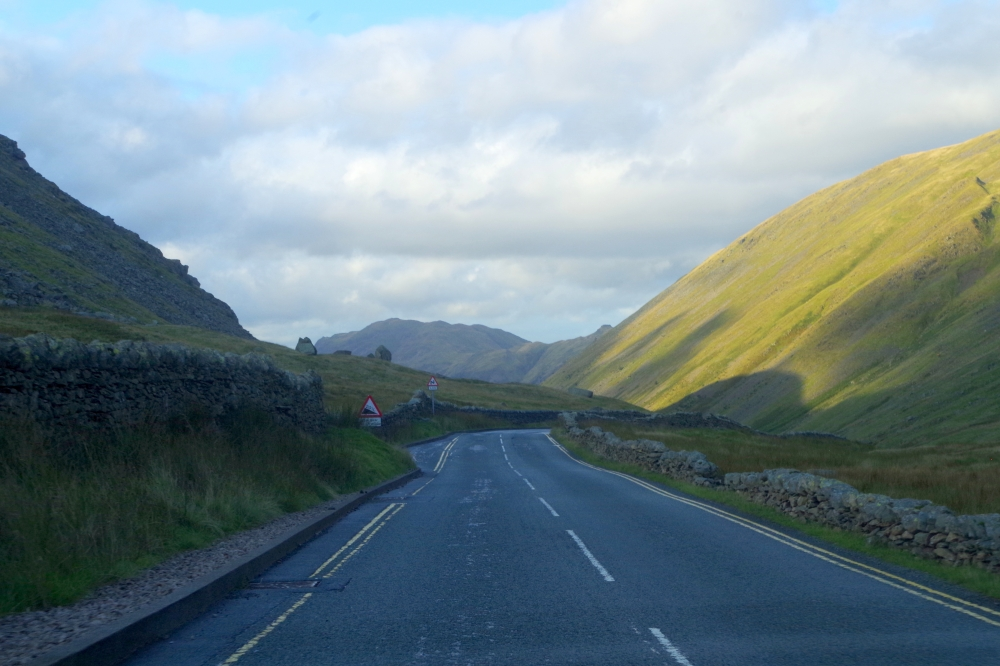 Road through the Lake District, England